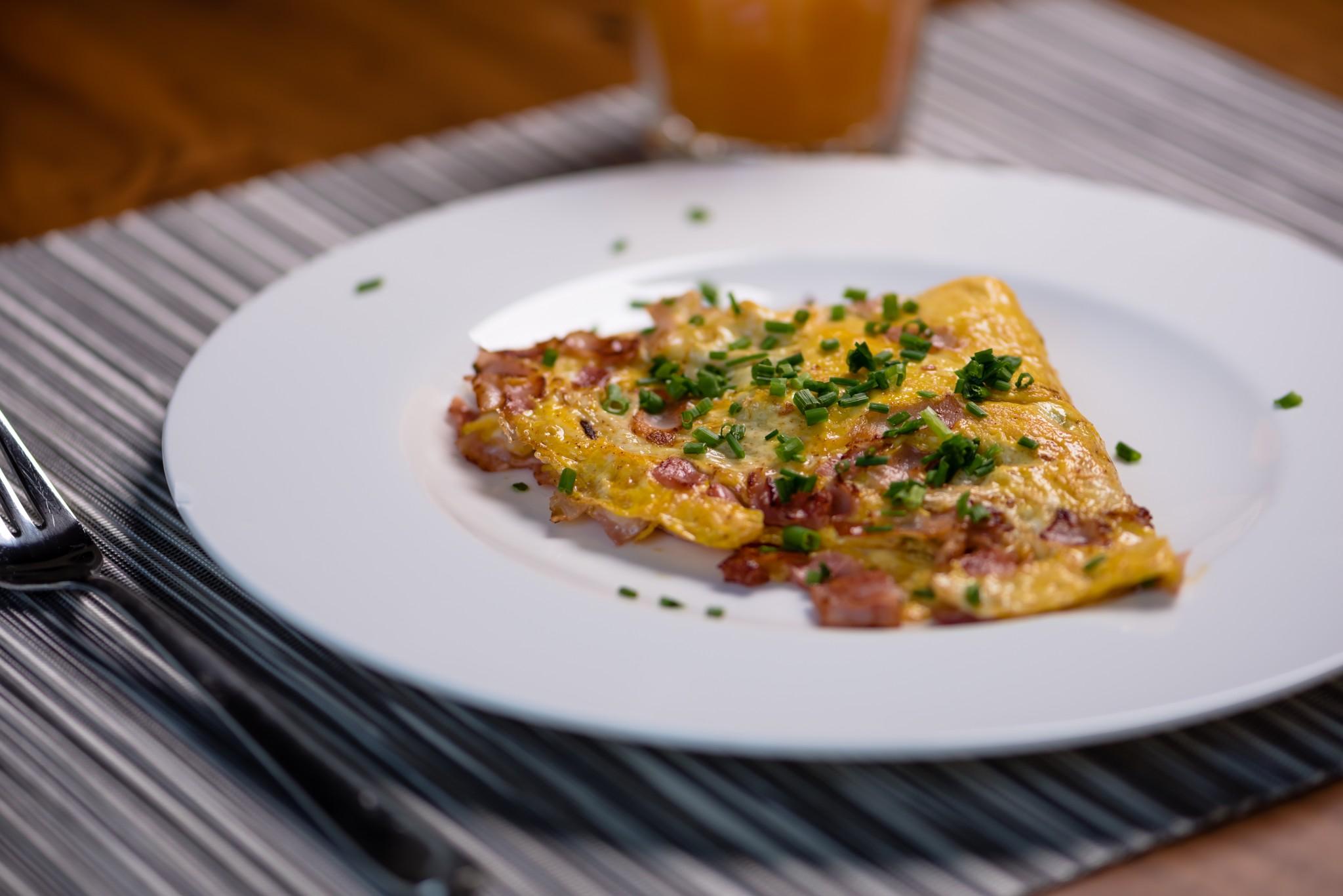 Omelette mit Käse & Schinken