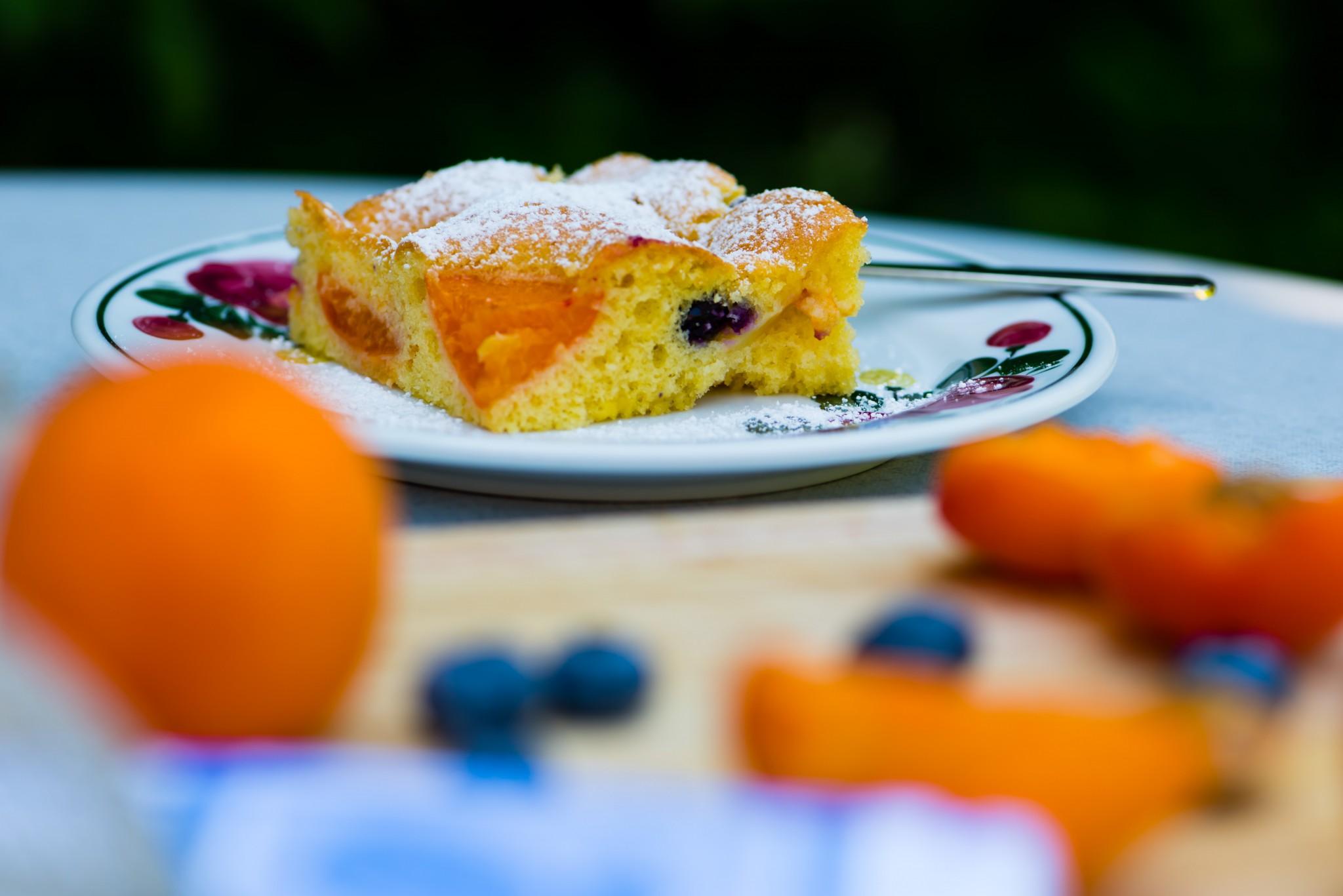 Marillen-Heidelbeer-Kuchen
