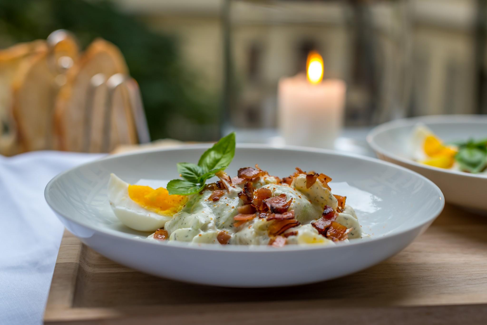 Gurken-Kartoffel-Salat mit Rohschinken