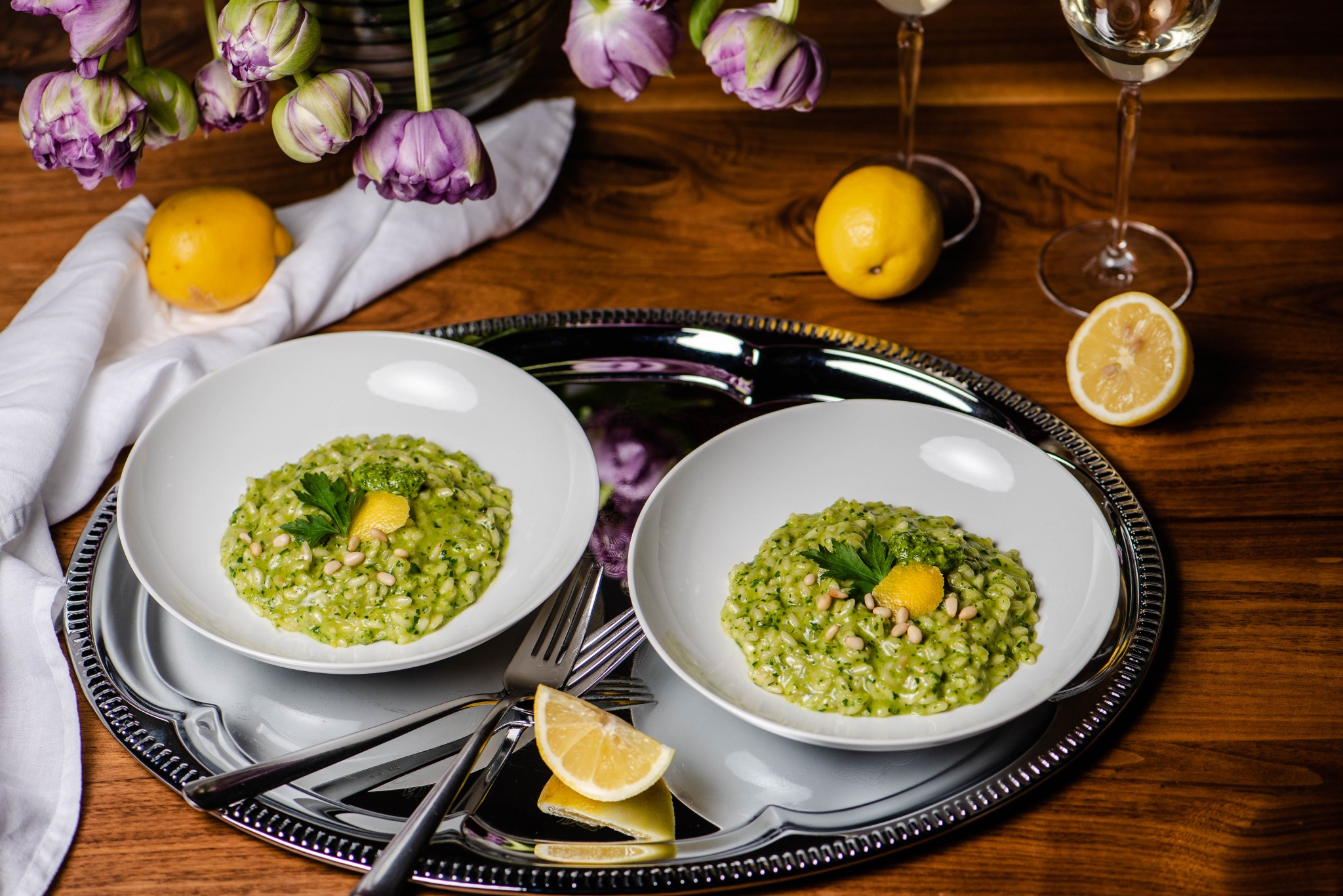 Petersilie-Zitronen-Risotto