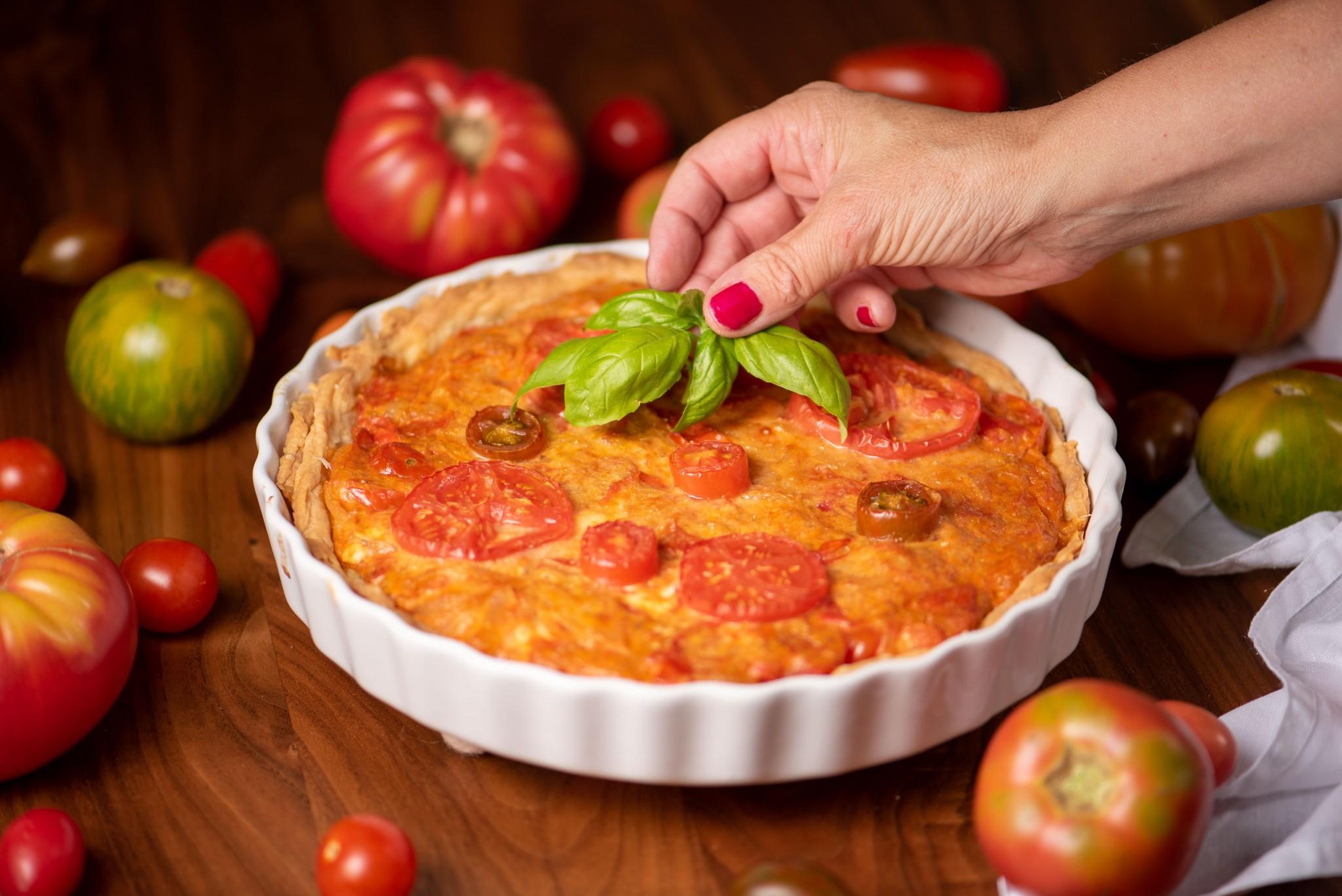 Tomaten-Zwiebel Tarte