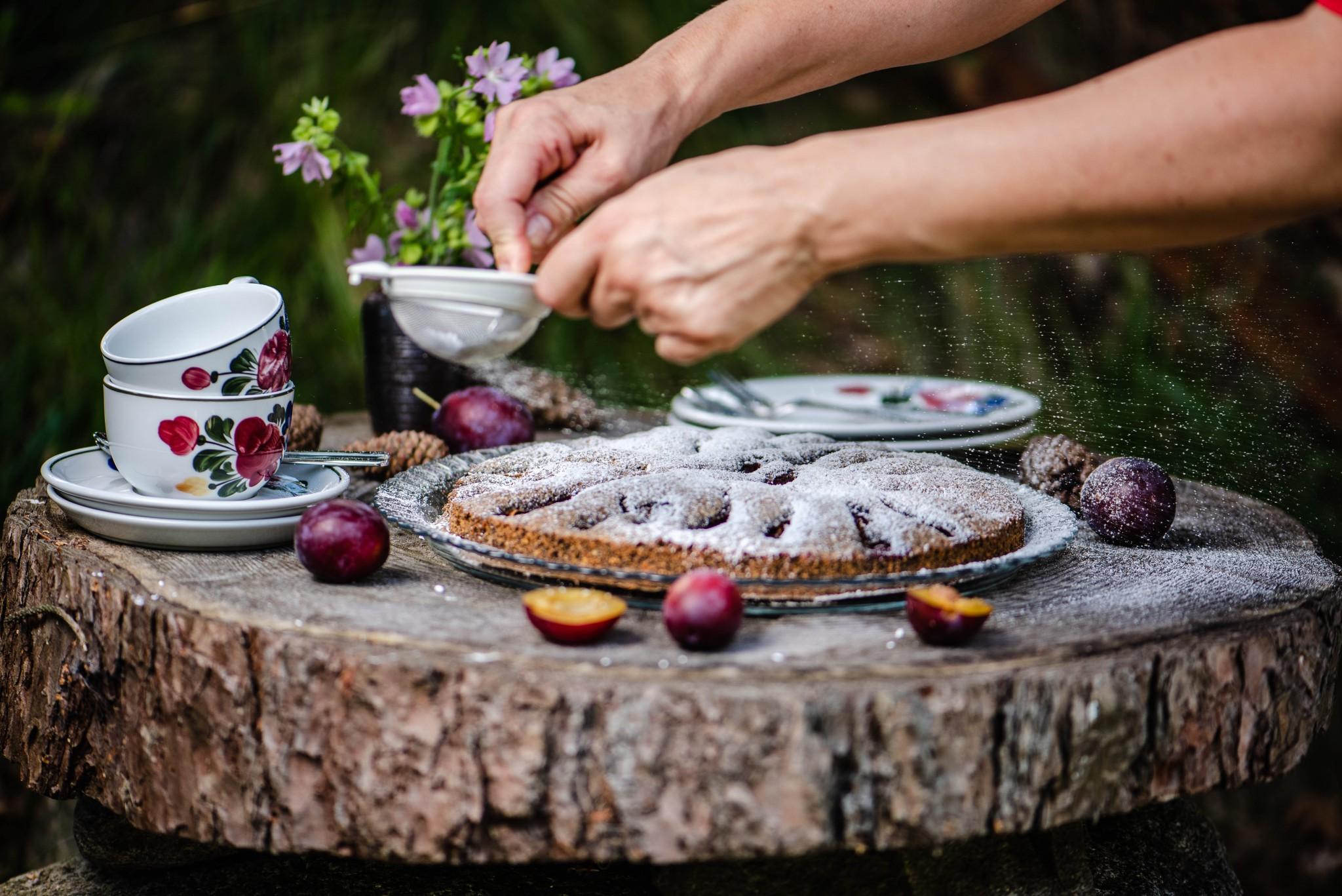 Mohnkuchen mit Zwetschken