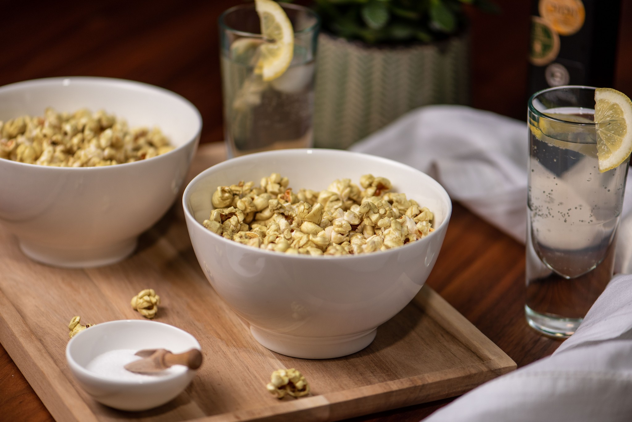 Grünes Popcorn