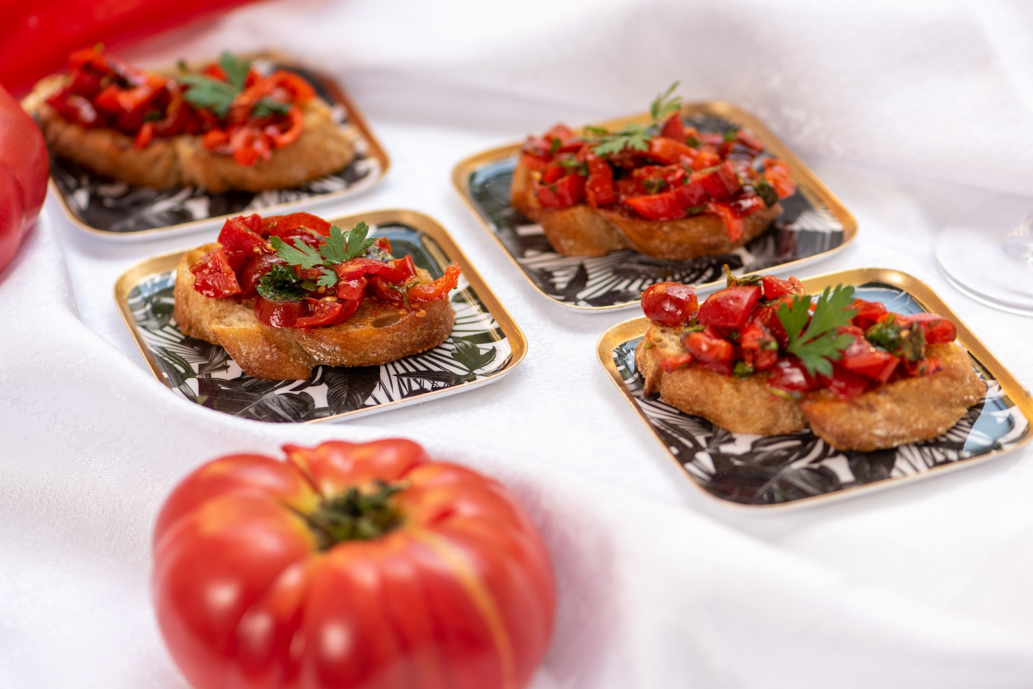 Bruschette mit geräuchertem Paprika