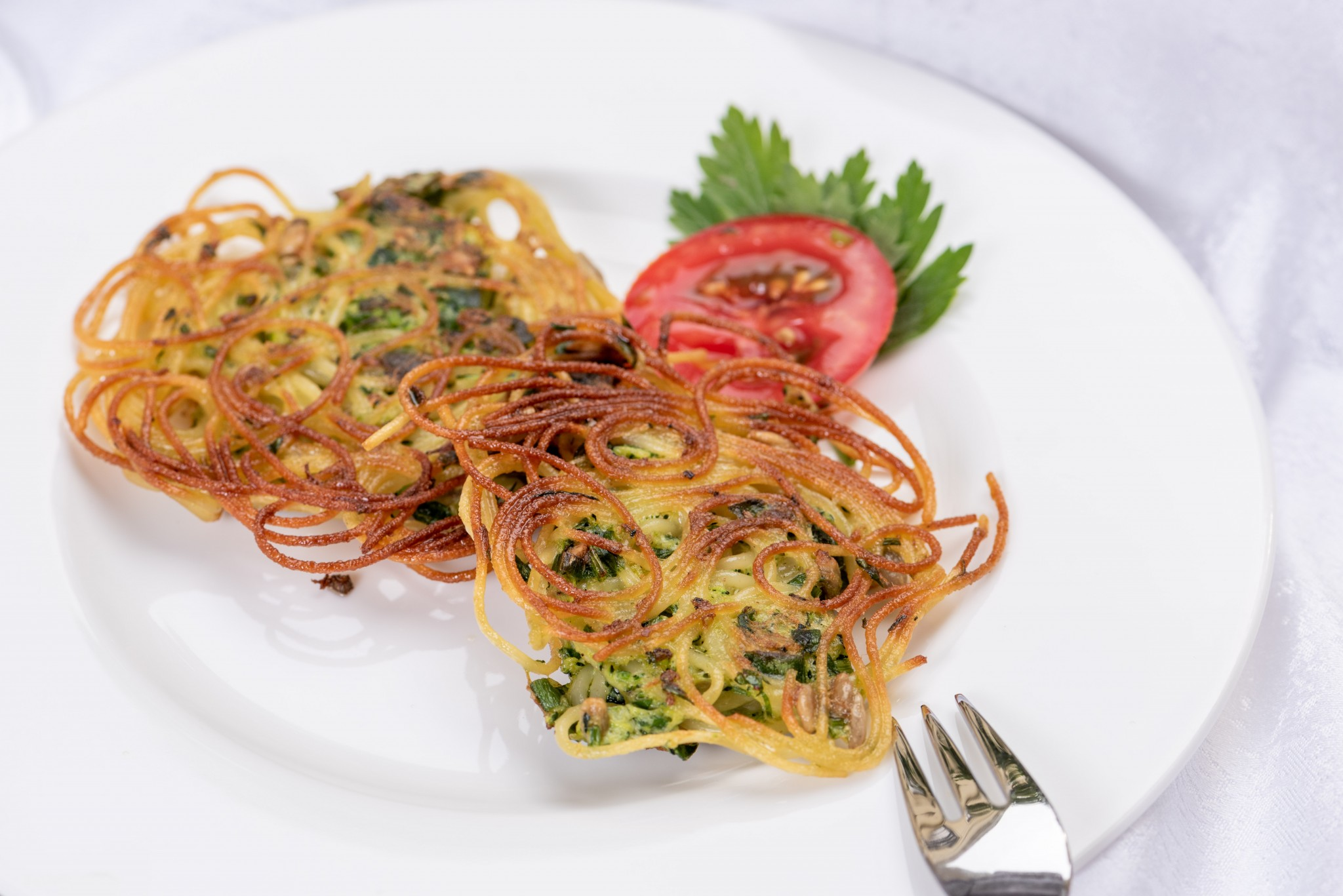 Crunchy Pasta mit Zucchini