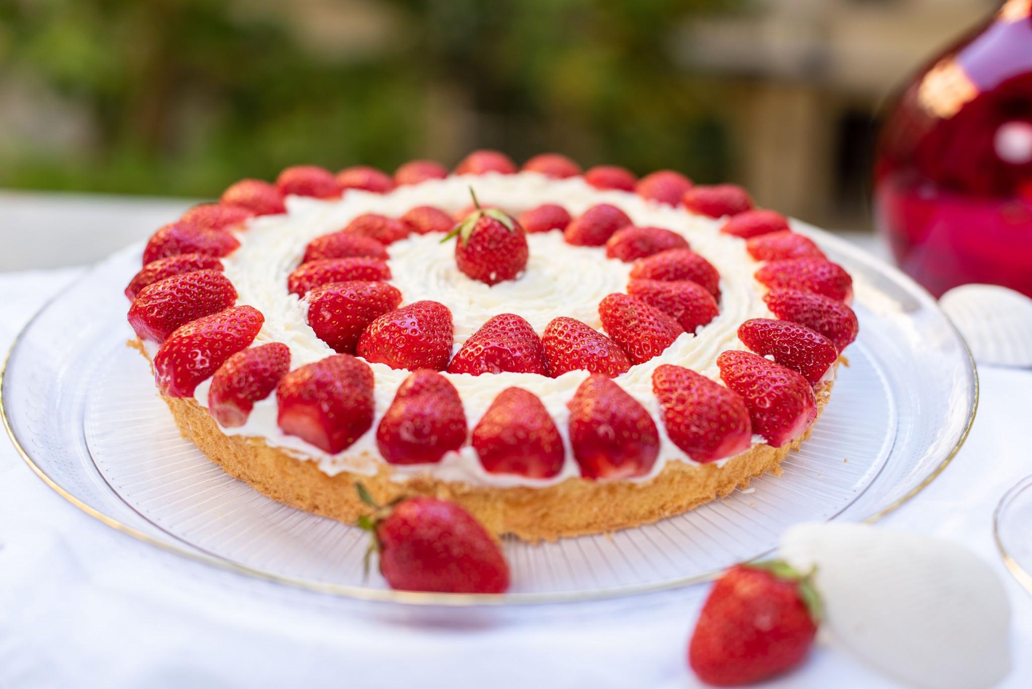Schneller Erdbeer-Cheesecake